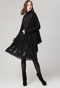 Czarny sweter Solar z dzianiny w stylu casual