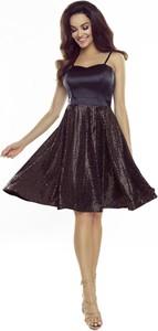 Granatowa sukienka N/A z dekoltem w kształcie litery v na ramiączkach