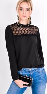 Czarna bluzka Zoio z okrągłym dekoltem