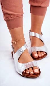 Sandały Laura Messi z klamrami ze skóry