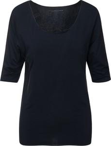Czarna bluzka Tommy Hilfiger w stylu casual z bawełny