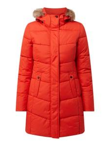 Czerwony płaszcz Icepeak w stylu casual z kapturem krótki
