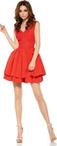 Czerwona sukienka Lemoniade gorsetowa