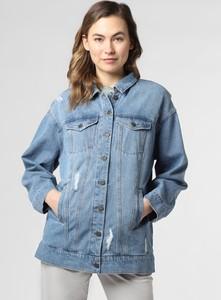 Niebieska kurtka Noisy May krótka z jeansu w stylu casual