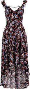 Sukienka Guess w stylu casual midi z dekoltem w kształcie litery v