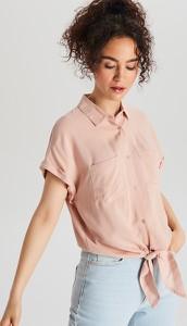 Różowa koszula Cropp w stylu casual