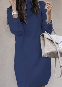 Niebieska sukienka Cikelly
