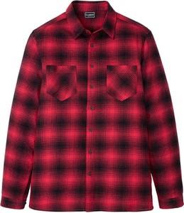 Czerwona koszula bonprix z kołnierzykiem button down z długim rękawem