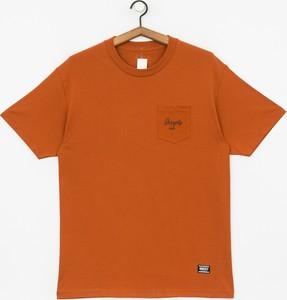 Pomarańczowy t-shirt Grizzly Griptape z żakardu z krótkim rękawem