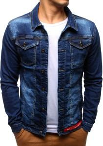 Granatowa kurtka Dstreet z jeansu