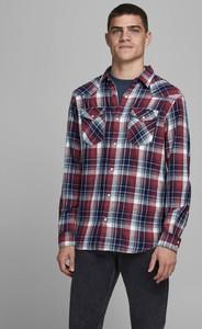 Koszula Jack & Jones z długim rękawem z bawełny z klasycznym kołnierzykiem