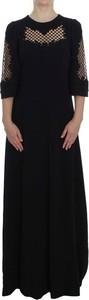Czarna sukienka Dolce & Gabbana z wełny