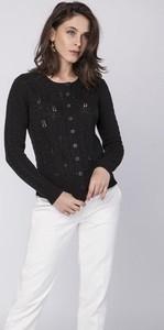 Czarny sweter Mkm Swetry w sportowym stylu