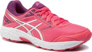 Różowe buty sportowe ASICS ze skóry ekologicznej sznurowane