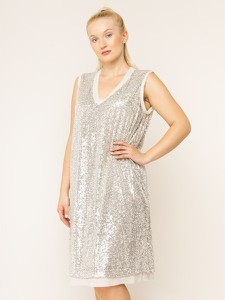 Sukienka Persona by Marina Rinaldi z dekoltem w kształcie litery v bez rękawów mini
