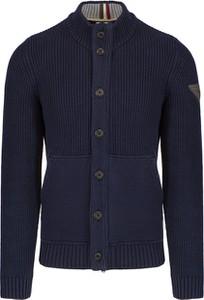 Granatowy sweter Aeronautica Militare z dżerseju w stylu casual