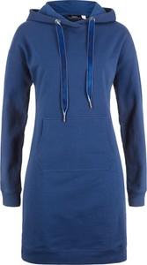 Sukienka bonprix bpc bonprix collection z długim rękawem midi z dekoltem w kształcie litery v