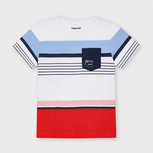 Koszulka dziecięca Mayoral w paseczki z krótkim rękawem dla chłopców