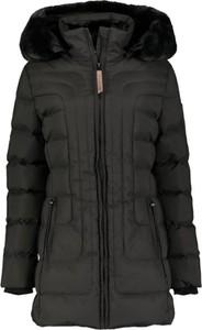 Czarna kurtka Geographical Norway w stylu casual długa