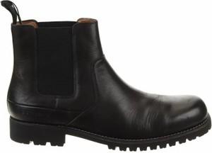 Czarne buty zimowe G-Star Raw ze skóry