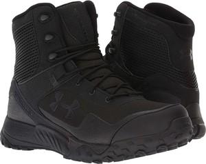 Czarne buty zimowe Under Armour sznurowane ze skóry