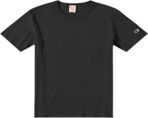 Czarny t-shirt Champion z krótkim rękawem