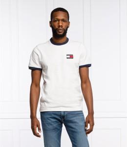 T-shirt Tommy Jeans z bawełny z krótkim rękawem w stylu casual