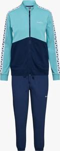 Niebieskie spodnie sportowe Diadora z dresówki