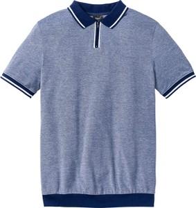 Niebieska koszulka polo bonprix bpc bonprix collection w stylu casual