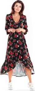 Sukienka Awama z tkaniny asymetryczna