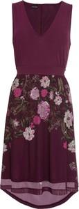 Fioletowa sukienka bonprix BODYFLIRT na co dzień bez rękawów w stylu casual