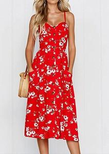 Sukienka Arilook szmizjerka midi z dekoltem w kształcie litery v