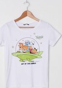 T-shirt House z nadrukiem z okrągłym dekoltem w młodzieżowym stylu