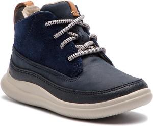 Buty dziecięce zimowe Clarks sznurowane z zamszu