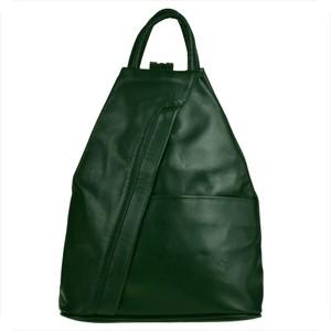 Zielony plecak Vera Pelle ze skóry