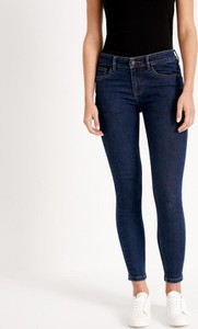 Granatowe jeansy Diverse w stylu casual z jeansu