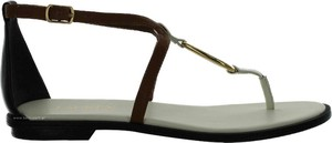 Sandały Lauren Ralph Lauren z płaską podeszwą w stylu casual ze skóry