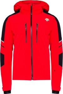 Czerwona kurtka Descente z tkaniny w stylu casual krótka