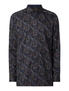 Granatowa koszula Olymp z bawełny w młodzieżowym stylu z długim rękawem