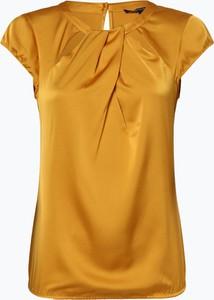 Żółta bluzka comma, z okrągłym dekoltem