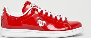Czerwone trampki Adidas Originals niskie sznurowane stan smith