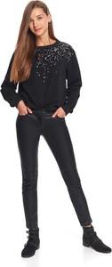 Czarne spodnie Top Secret w rockowym stylu