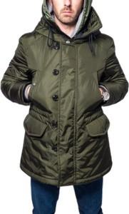 Zielona kurtka Moncler w stylu casual długa