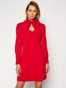 Czerwona sukienka Guess by Marciano mini z długim rękawem
