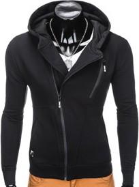 Czarna bluza ombre clothing z bawełny