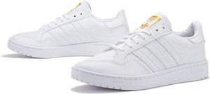 Trampki Adidas z płaską podeszwą ze skóry