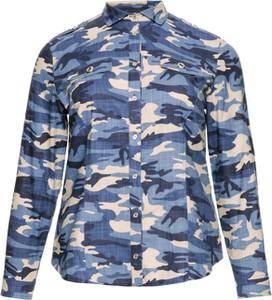 Koszula modneduzerozmiary.pl z bawełny z kołnierzykiem w militarnym stylu