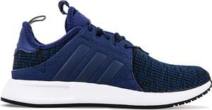 Granatowe buty sportowe Adidas z płaską podeszwą w street stylu