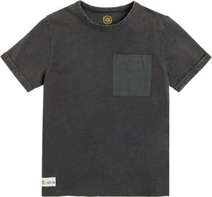 Czarna koszulka dziecięca Cool Club dla chłopców z bawełny