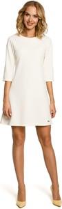 Sukienka MOE z długim rękawem z okrągłym dekoltem mini